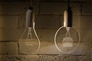 Flat LED bulb