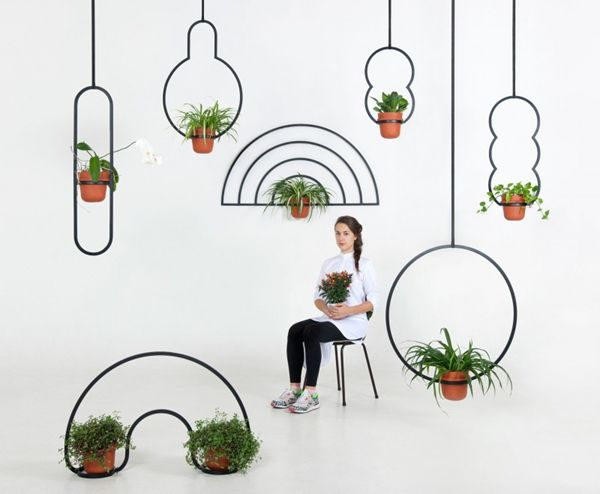 Kuiper Belt hanging pots by Katerina Kopytina