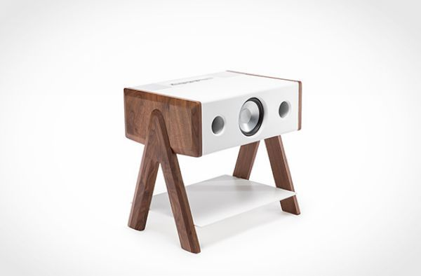 LD Cube speaker and coffee table