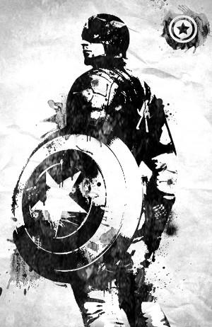 Captain America – Marvel art paint