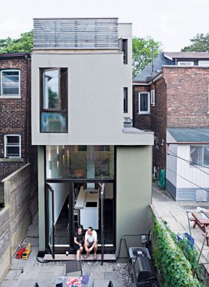 Narrow Modernist Three-Story Home in Toronto