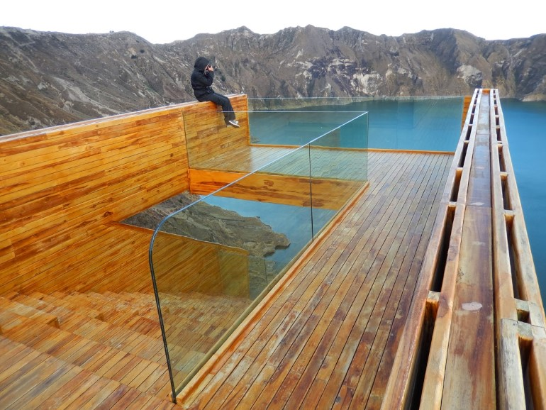 Quilotoa Overlook is Located in the Top Edge of the Crater of an Active Volcano