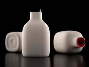 "Say ""I love you"" with this concept milk bottle"