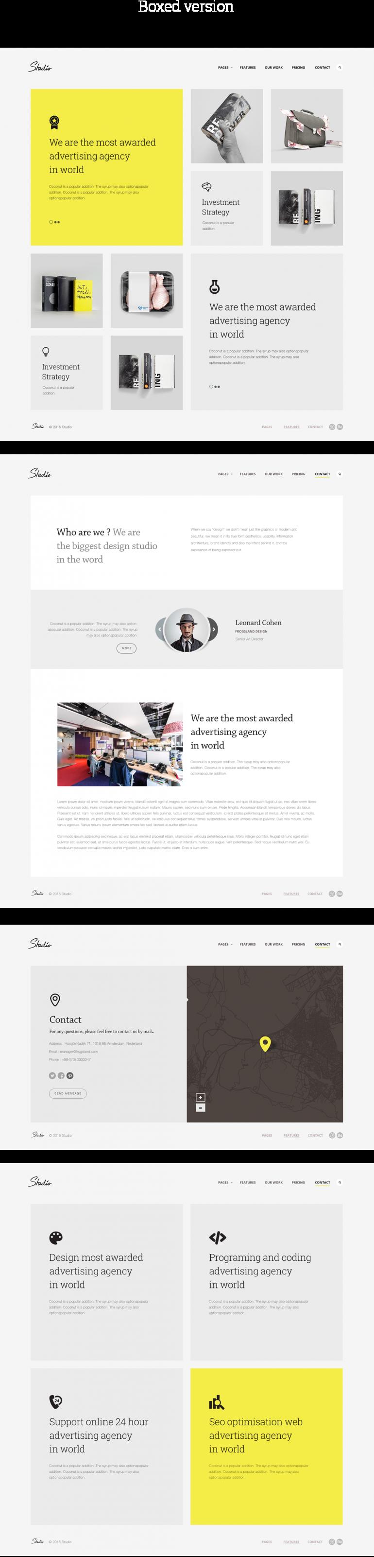 Studio Template [HTML5]