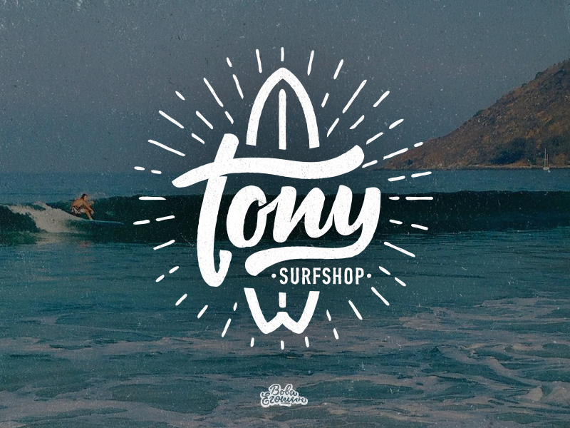 Tony Surfshop logo by Typemate