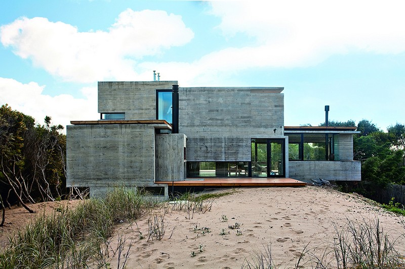 Concrete Beach House With Industrial Features