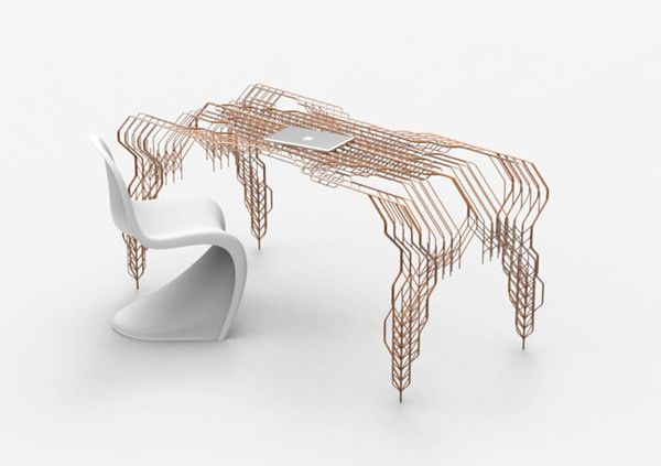 Copper plated steel table