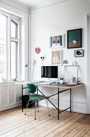 Designer Files: {I Spy Green!} Home office