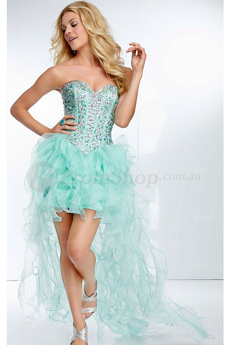 New Arrivals High Low Sheath Natural Sweetheart Prom Dresses