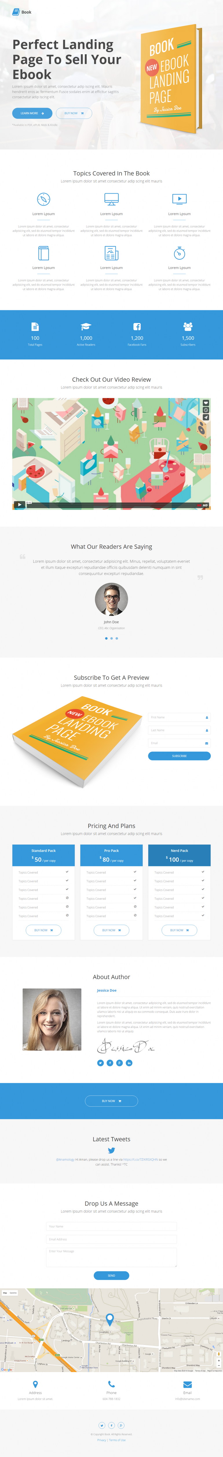 Book – Responsive Ebook Landing Page
