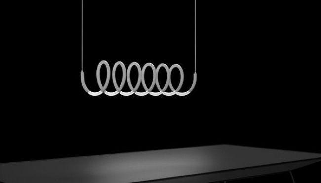 Minimalist spiral lamp