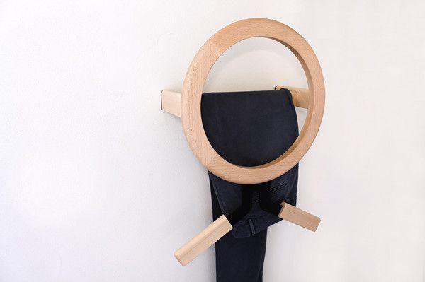 Wall-mounted MODO coat rack