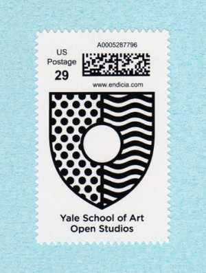 Yale School of Art Open Studios stamp