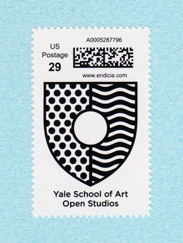 Yale School of Art Open Studios stamp