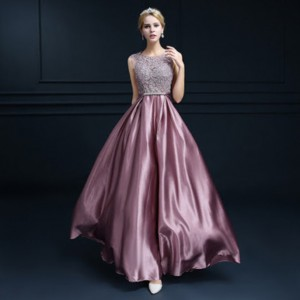 aqdj23-l-610×610-dress-vestido+women+fashion+scoop+floor+length+prom+dresses+2016-prom+dres ...