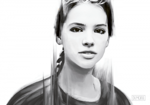 Digital Portrait Sketch by DEMORIE