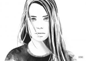 Digital Portrait Sketch by DEMORIE