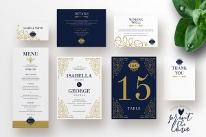 Wedding Invitation Suite – Isabella