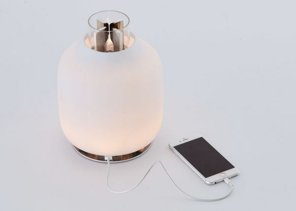 Lantern-shaped table lamp