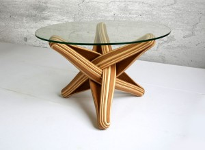 Bamboo Coffee Table by J.P.Meulendijks