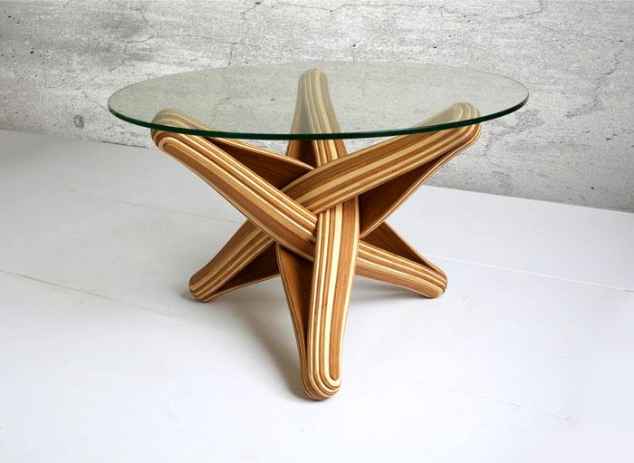 Bamboo Coffee Table by J.P.Meulendijks