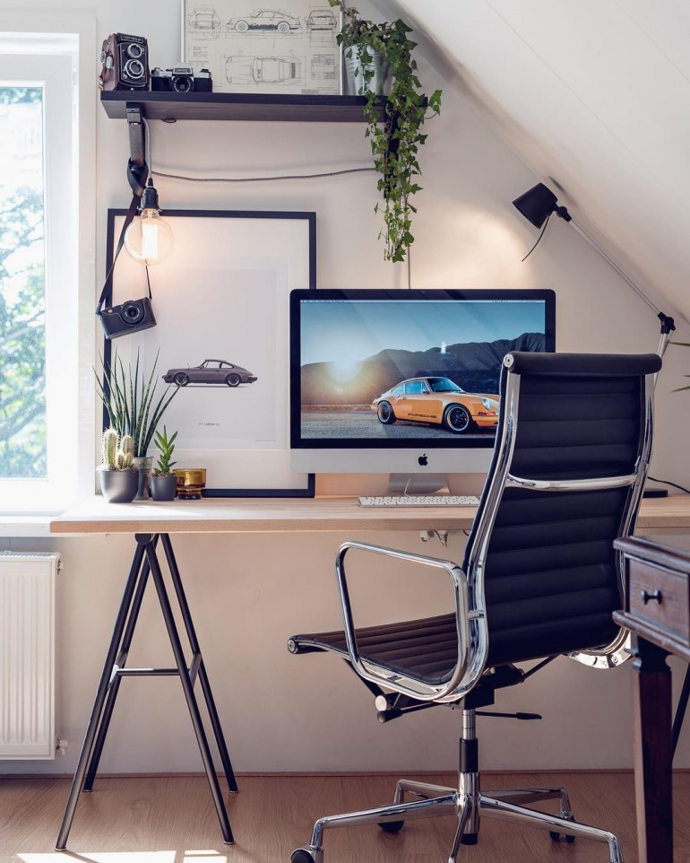 Perfect home office on inspirationde for Office design instagram