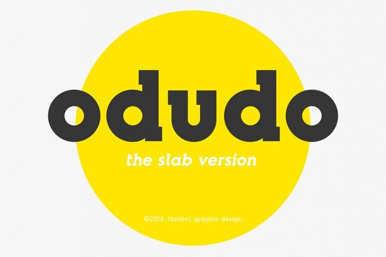 Odudo Slab – Typeface