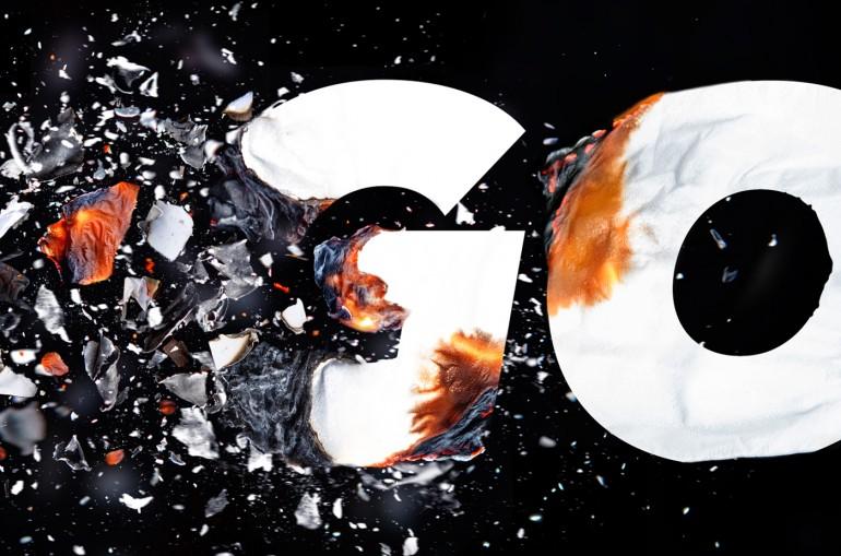 GONE – Typographic Illustration