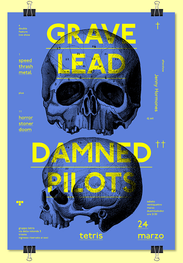 GRAVE LEAD + DAMNED PILOTS ➝ live at Tetris