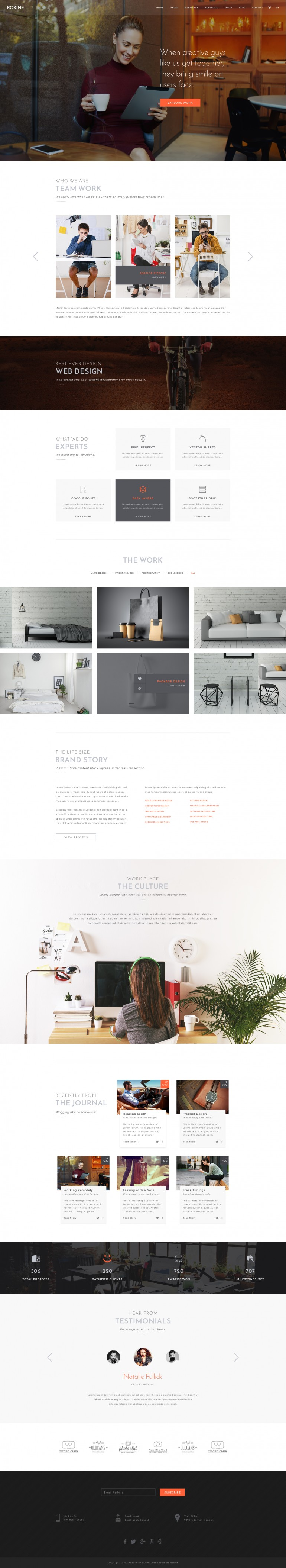 Roxine – Creative Agency