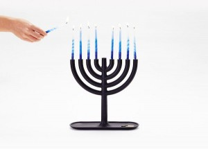 Minimalist Menorah Candlestick