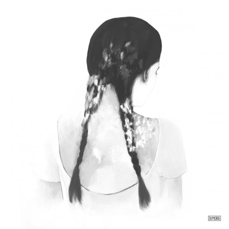 "Digital Sketch ""Fade Away"" by DEMORIE"