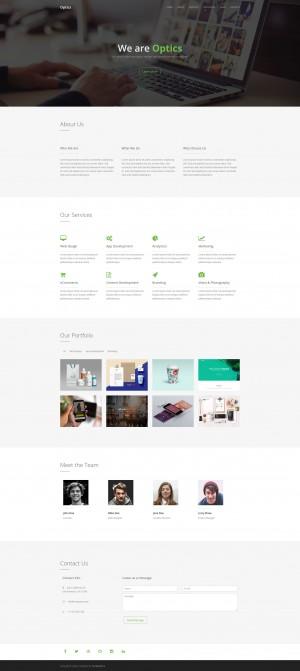 Optics – Free One Page HTML Template
