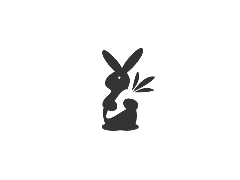 Rabbit Loves Carrot – Logo / mark by Aditya Chhatrala