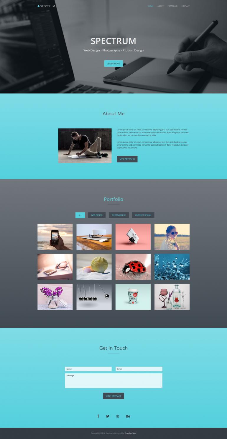 Spectrum – One Page Portfolio Template