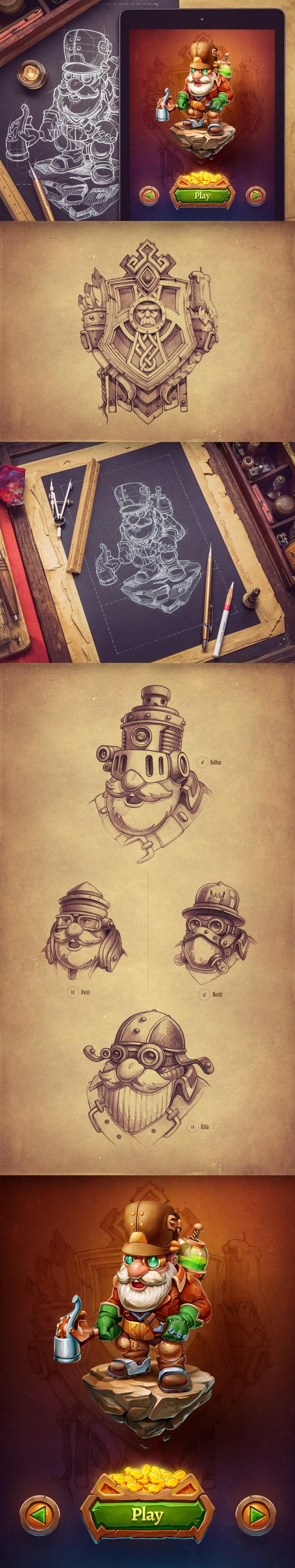 Dwunn (Character design, concept art)
