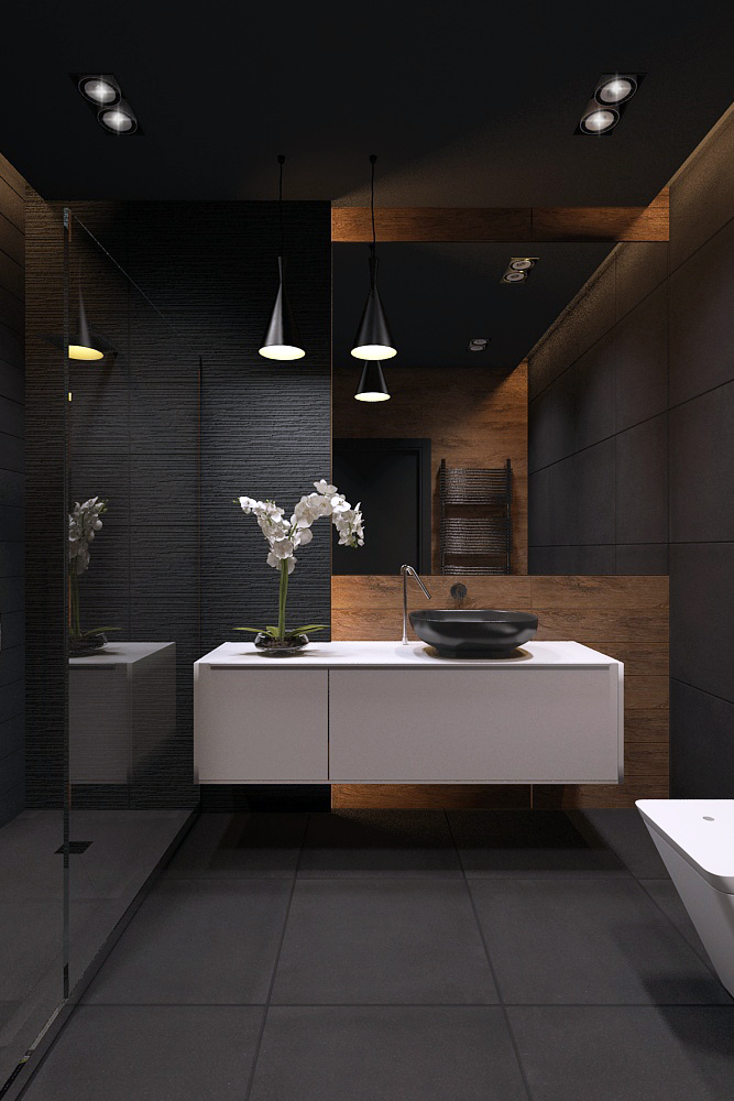 Bathroom blackstyle on inspirationde Interior design black bathroom