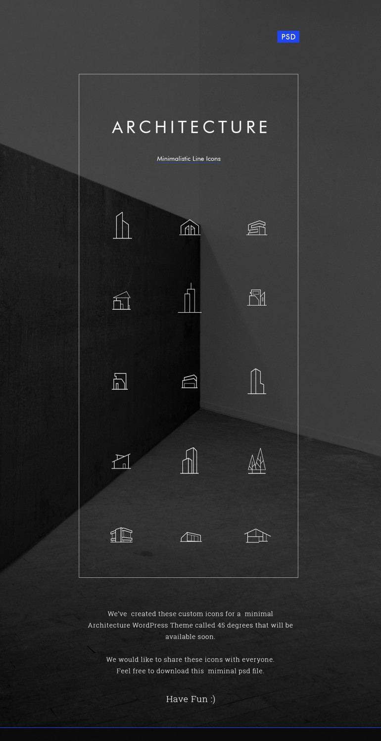 Minimal Architecture Line Icon Pack