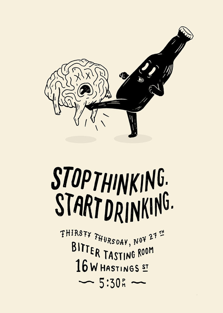 Stop Thinking – Illustration