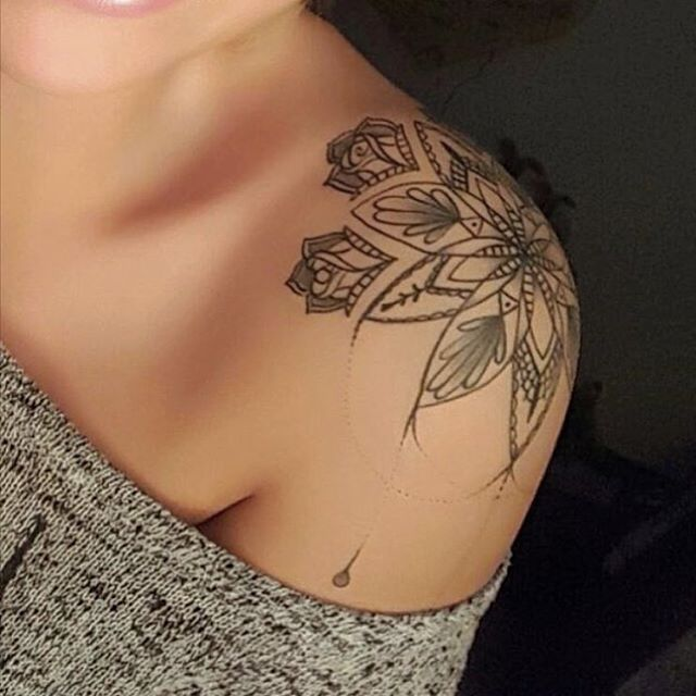 Mandala shoulder tattoo! ?❣?