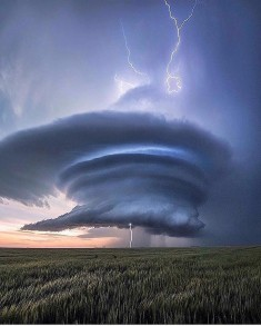 A unique storm in Leoti, Kansas USA