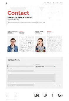 Contact page for UIG Studio