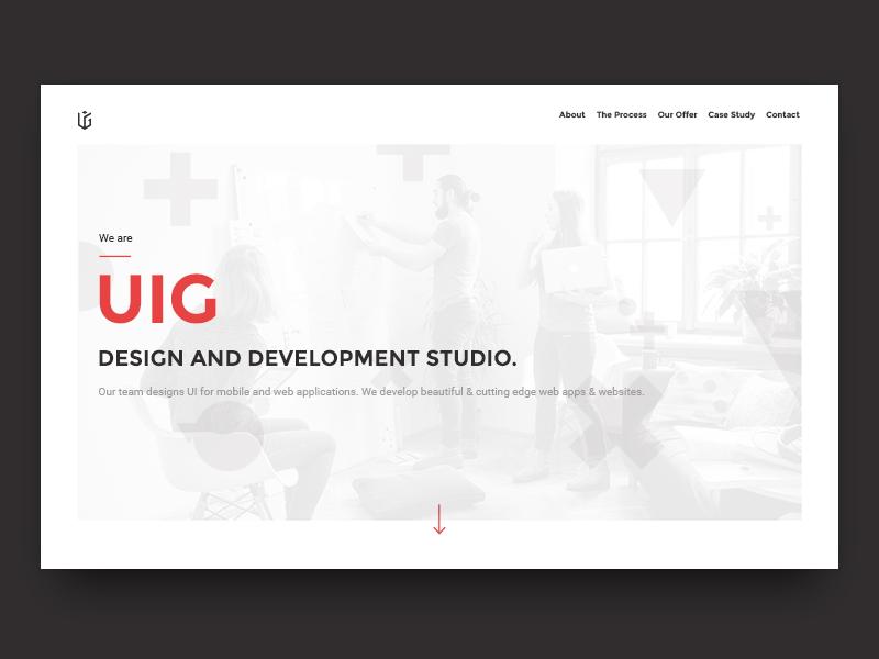 My latest project for uigstudio.com