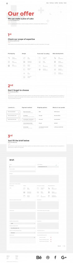 Offer page for UIG Studio