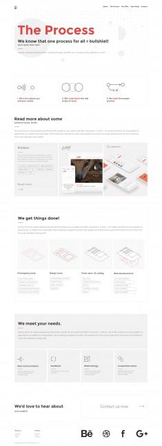 process page for UIG Studio