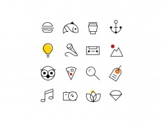 Alexander Calder Icons.  A set of icons inspired from  Alexander Calder's work. They come  ...