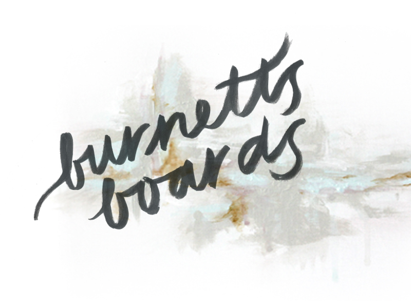 Burnett's Boards: branding + blog design