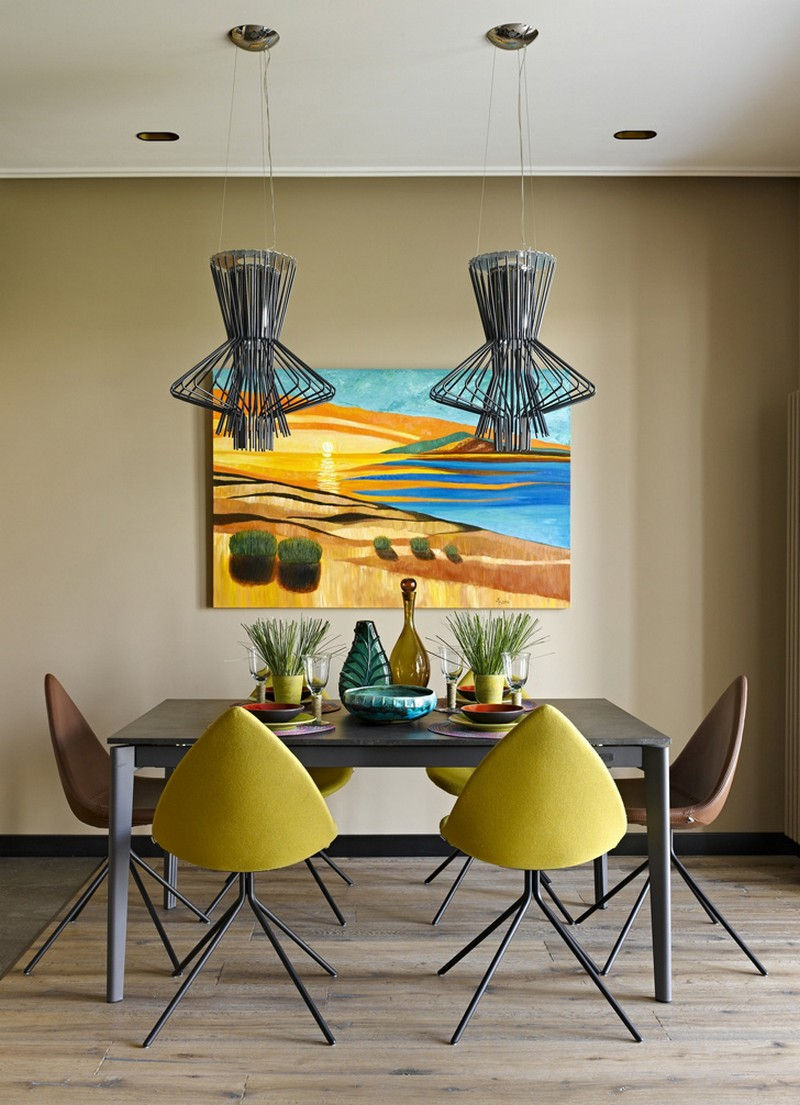 Colorful Geometry Ndebele – Apartment with Decor Inspired by Primitive Art of the South African  ...