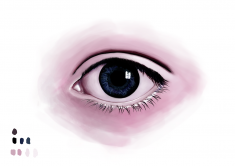 """Digital Eye Sketch"" Digital Art by DEMORIE"