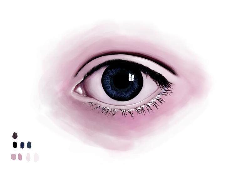 """""""Digital Eye Sketch"""" Digital Art by DEMORIE"""